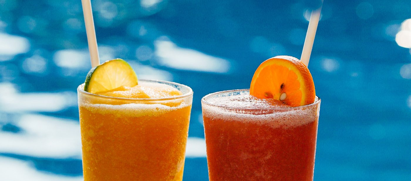 Frozen Cocktails by the pool