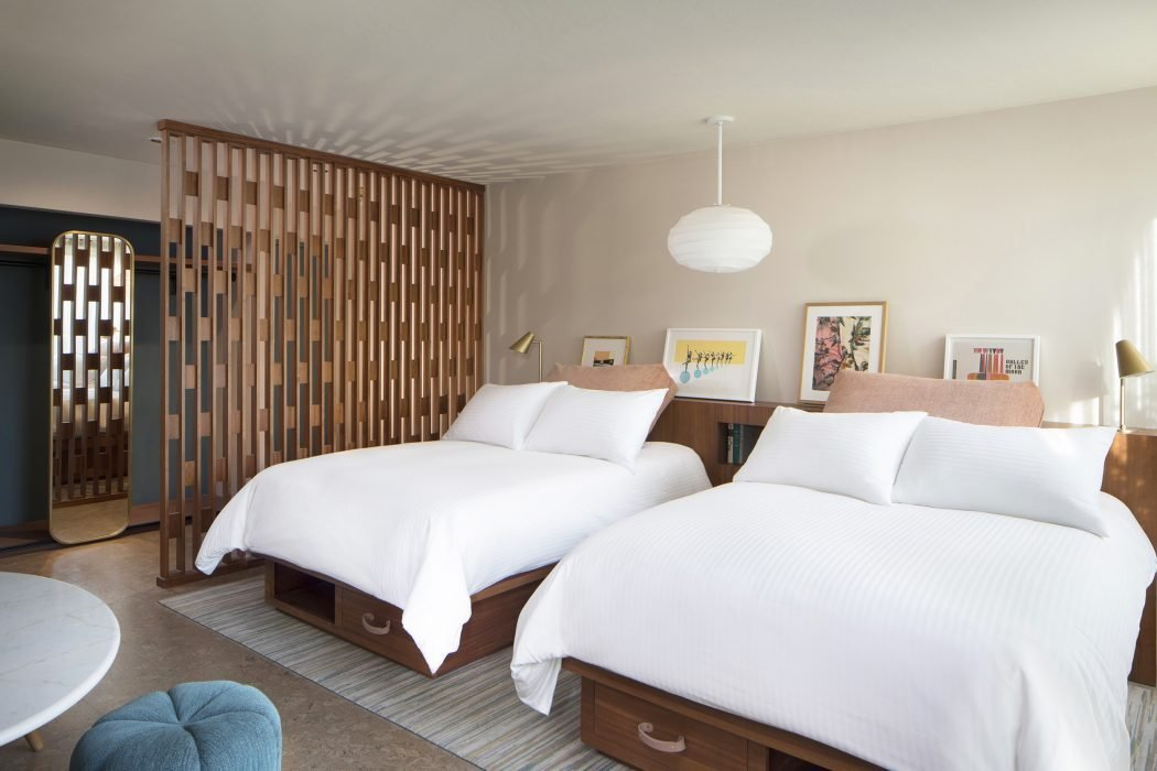 Deluxe room with two double beds at Flamingo Resort